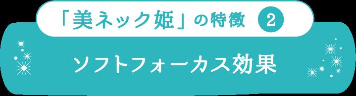 「美ネック姫」の特徴2 ソフトフォーカス効果