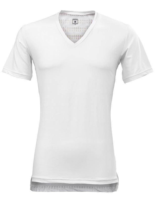 MENS 半袖 Vネック インナーシャツ ホワイト