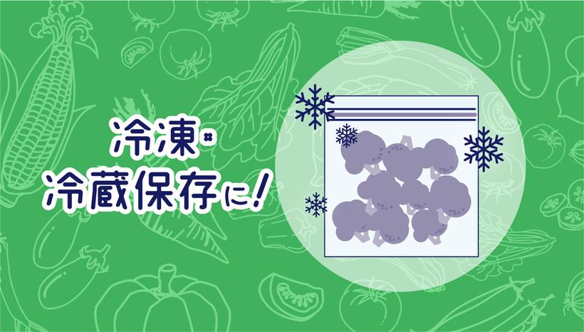 冷凍・冷蔵保存に!